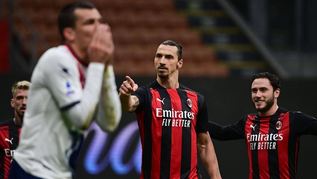 Al centro Zlatan Ibrahimovic. Afp