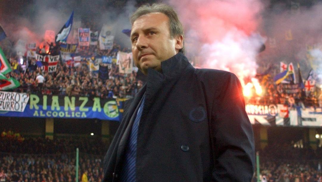 Alberto Zaccheroni, all'Inter nel 2003-04. Ap