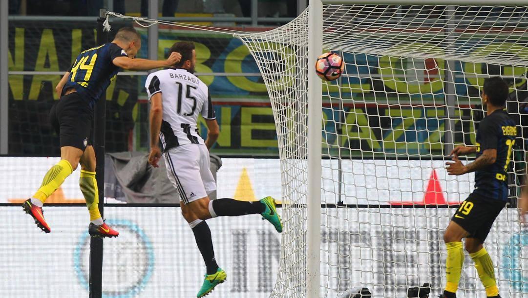 Il gol di Perisic alla Juve nel 2-1 del 2016. Getty