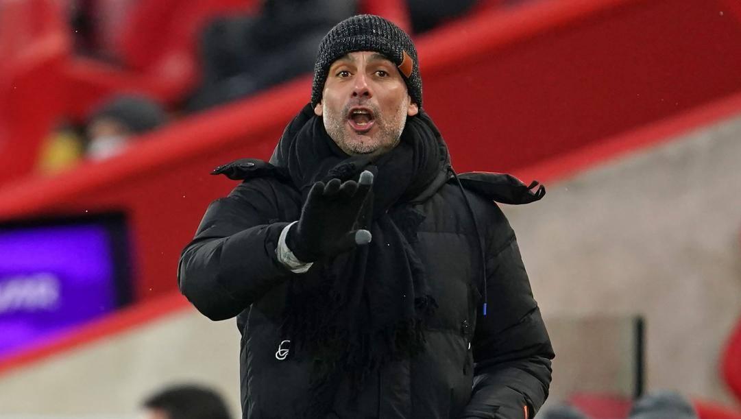 Pep Guardiola, 50 anni, allenatore del Manchester City (AFP)