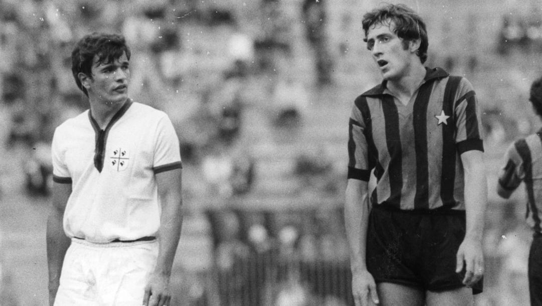 A destra Mauro Bellugi quando giocava con l'Inter. Archivio Gazzetta
