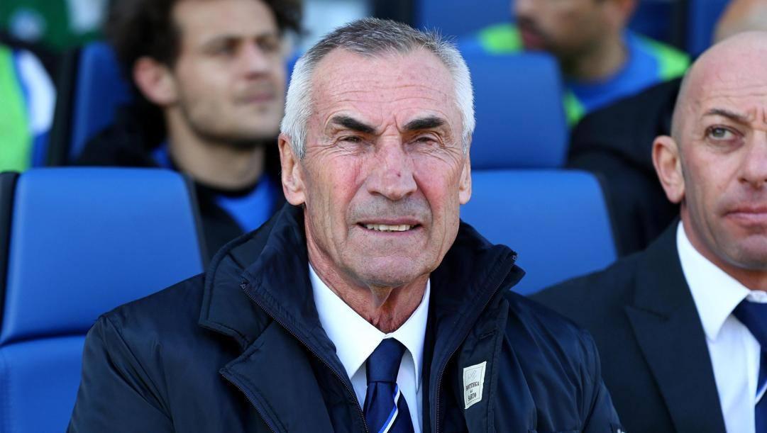 Edoardo Reja (75 anni), oggi Ct dell'Albania. Ansa