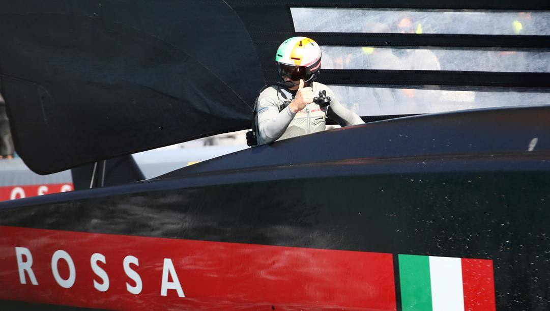 Jimmy Spithill, timoniere di Luna Rossa (Foto di Phil Walter - Getty Images)