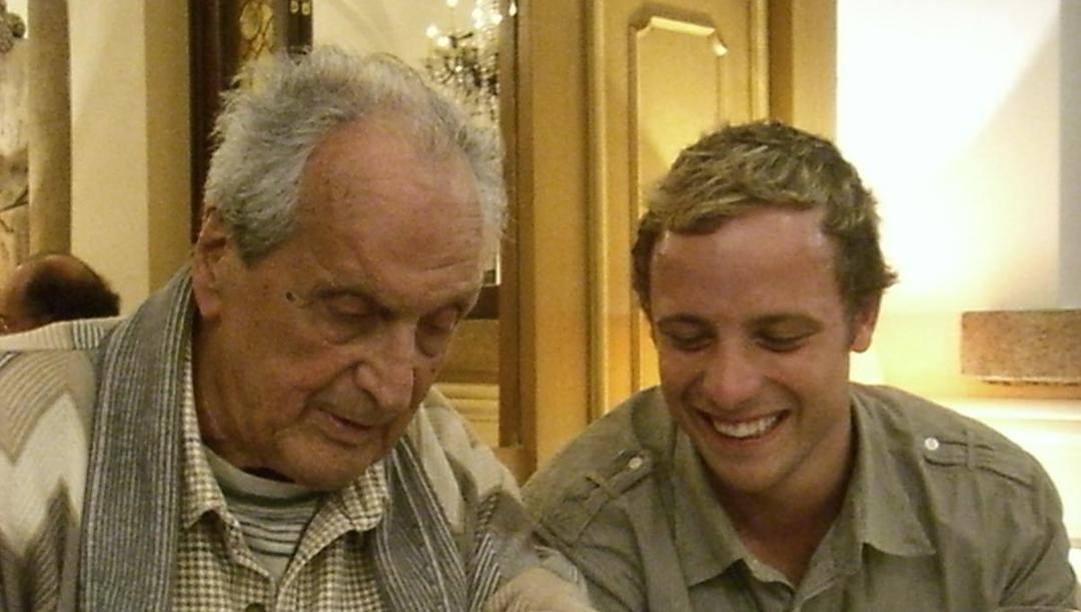 Ottavio Missoni in Gazzetta con Oscar Pistorius nel 2008