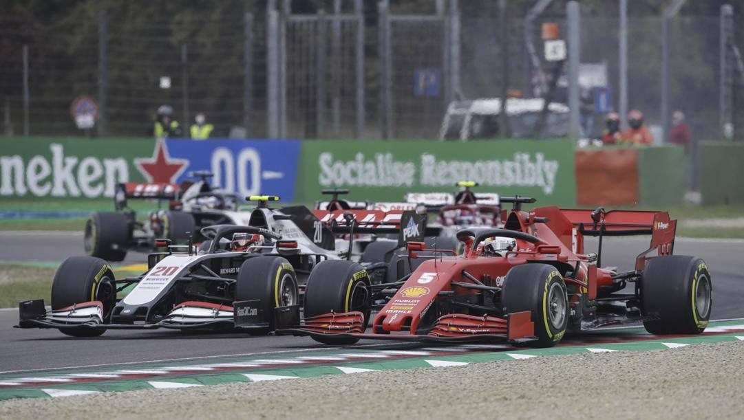 Una fase di un GP di Formula 1. Epa
