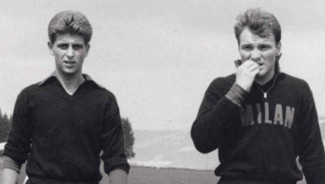 Gianni Rivera (a sinistra), insieme al suo compagno ai tempi del Milan Josè Altafini