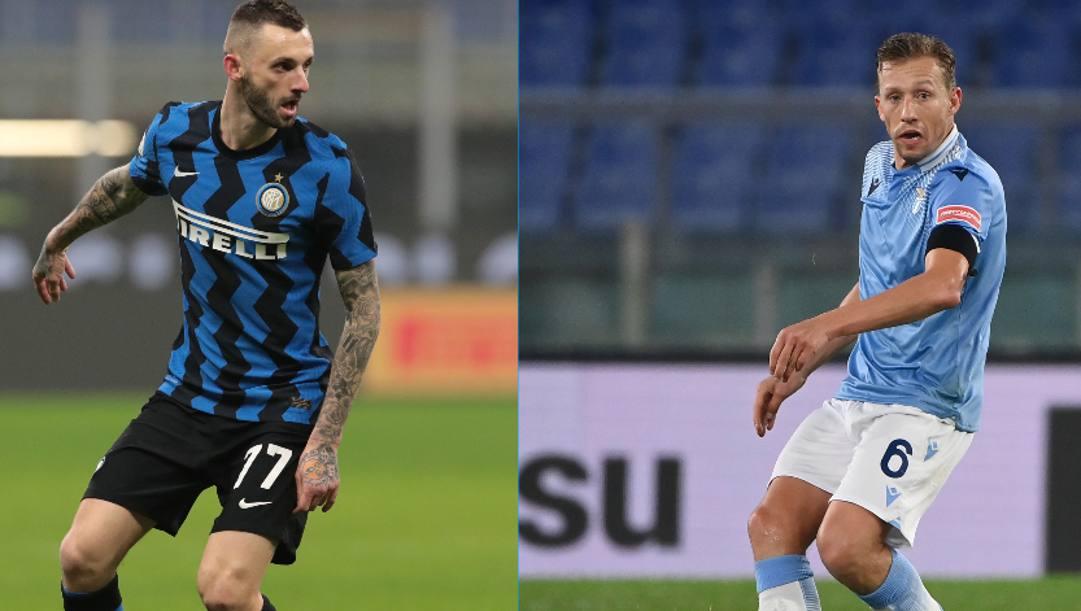 Marcelo Brozovic (28 anni) e Lucas Leiva (34). GETTY IMAGES-LAPRESSE