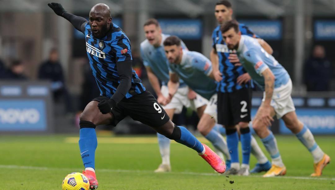 L'1-0 di Lukaku alla Lazio. Getty