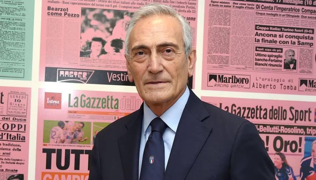 Gabriele Gravina, presidente Figc, ospite in Gazzetta. (foto di Bozzani Fabio)