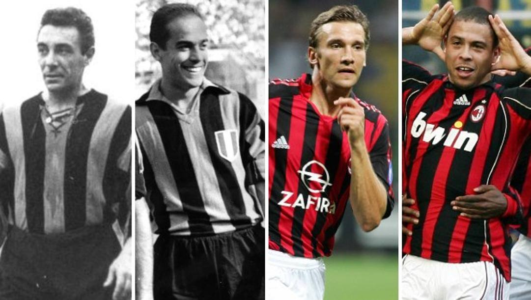 Da sinistra Lorenzi, Suarez, Shevchenko e Ronaldo