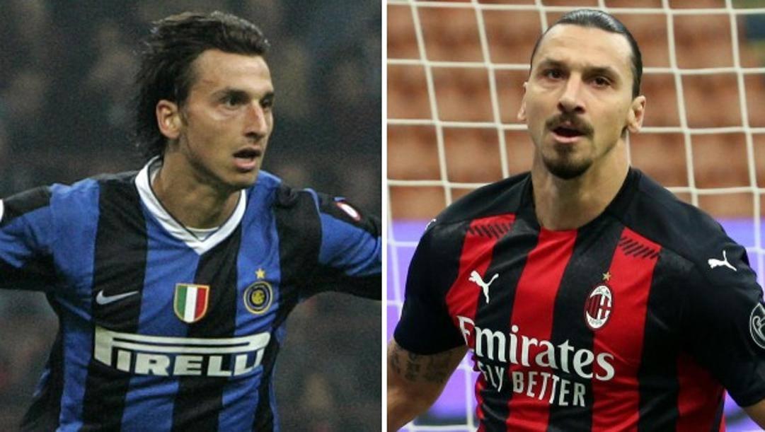 Zlatan Ibrahimovic nel 2006 e oggi. Ap/Ansa