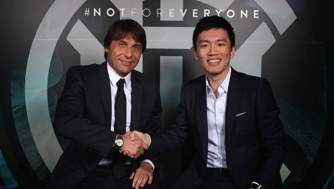 Steven Zhang con Antonio Conte. Getty