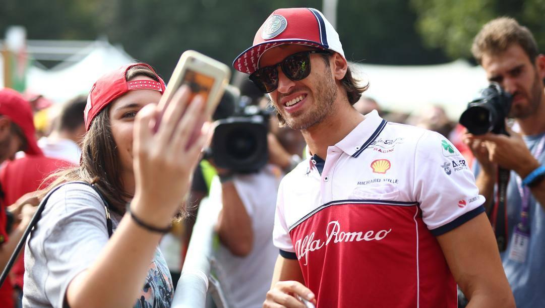 Antonio Giovinazzi, 27 anni, terza stagione all'Alfa Romeo. Lapresse
