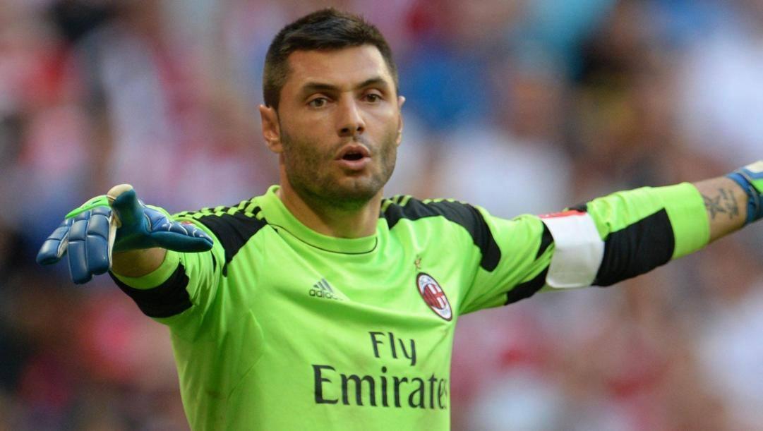 Marco Amelia, portiere del Milan dal 2014 al 2014. Ansa