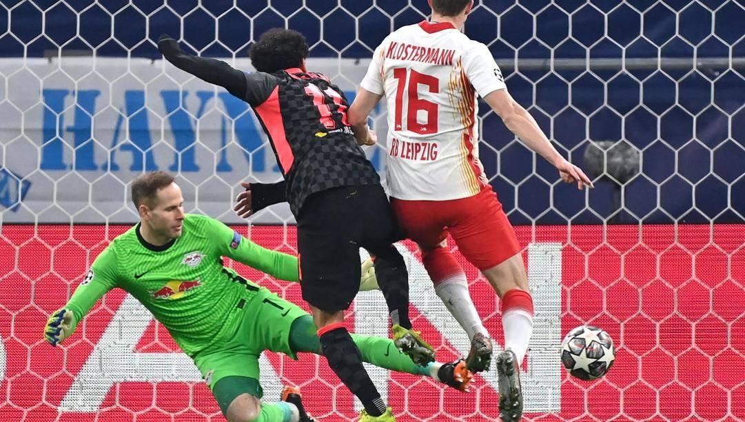 Il gol di Salah contro il Lipsia: Liverpool vittorioso 2-0. Afp