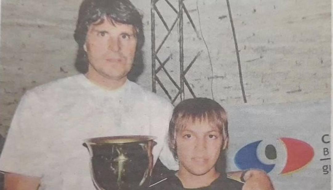Alberto Desideri con un giovanissimo Lautaro Martinez