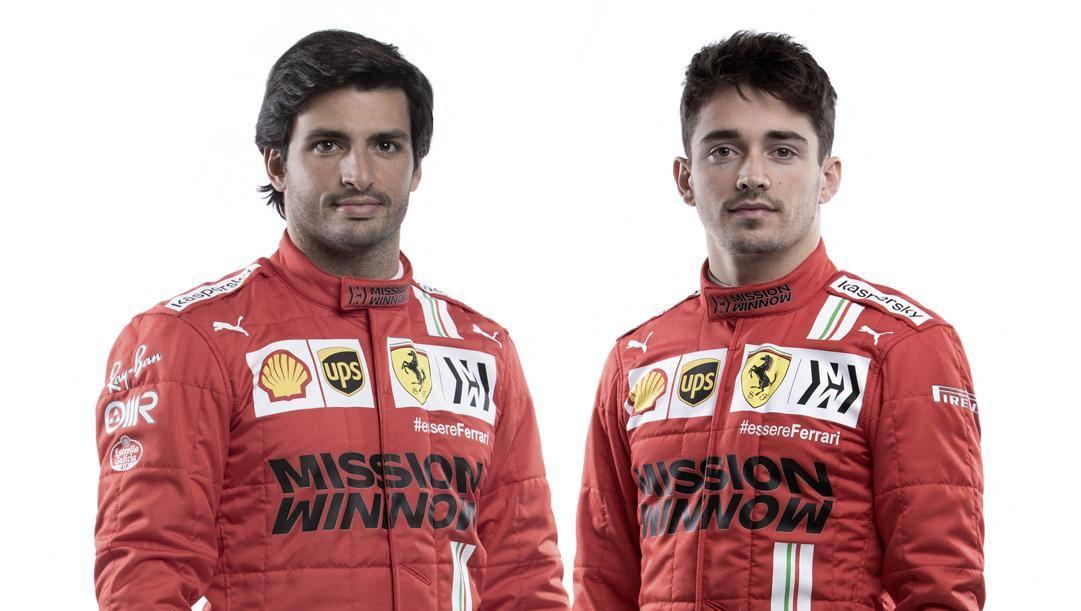 Carlos Sainz Jr. e Charles Leclerc, i piloti Ferrari per il 2021. Afp