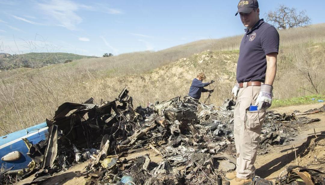 I rottami dell'elicottero che il 26 gennaio 2020 ha ucciso Kobe Bryant, la figlia Gianna e altre 7 persone. Epa
