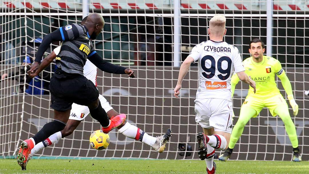 """Il gol di Lukaku dopo 32"""". Ansa"""