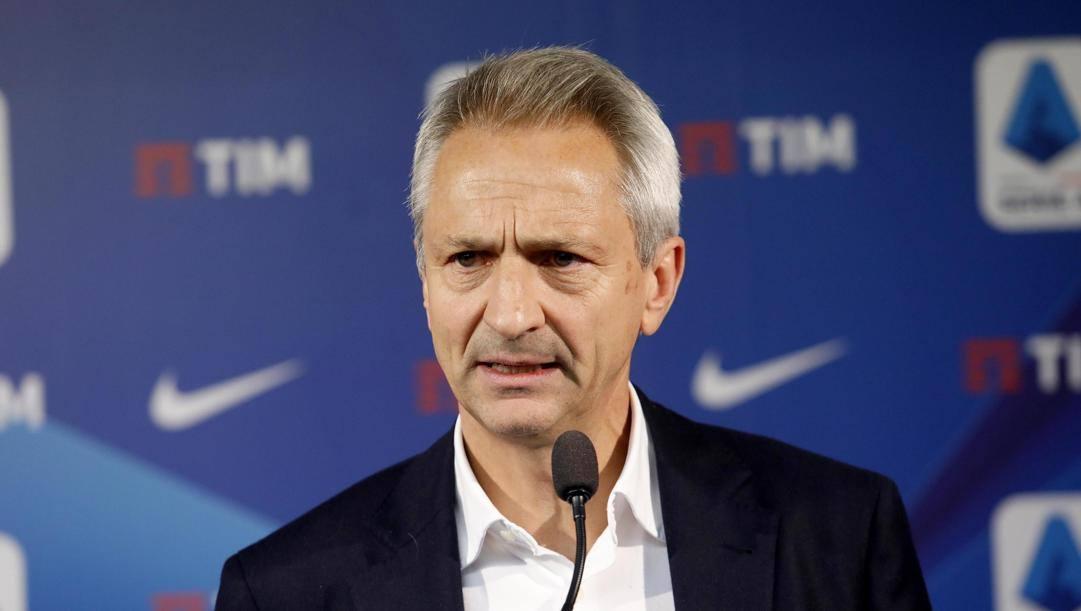 Paolo Dal Pino, presidente della Lega Serie A. Ansa