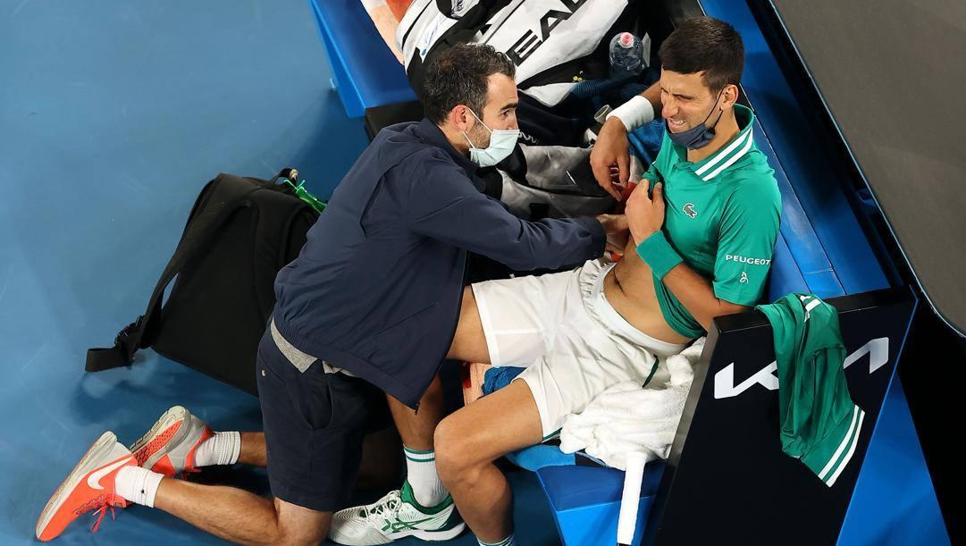 Nova Djokovic durante gli Australian Open