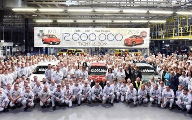 Celebrazioni per il raggiungimento di quota 12 milioni di unità prodotte nello stabilimento Fca (ora Stellantis) di Tychy
