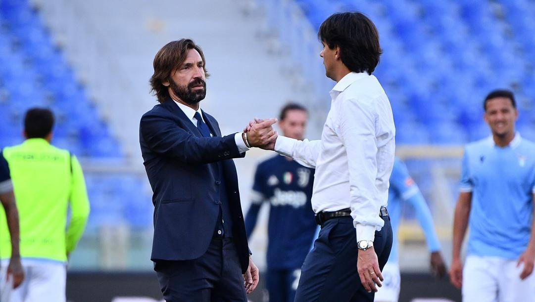 Andrea Pirlo e Simone Inzaghi all'andata (LAPRESSE)