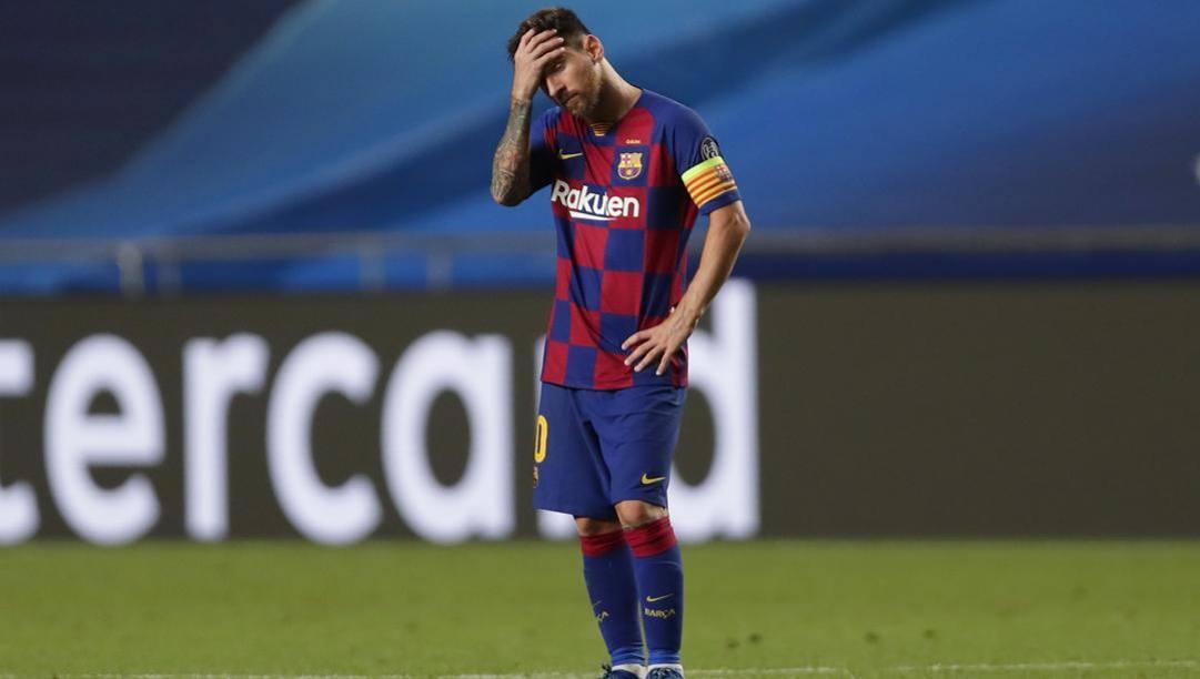 La disperazione di Leo Messi. Getty
