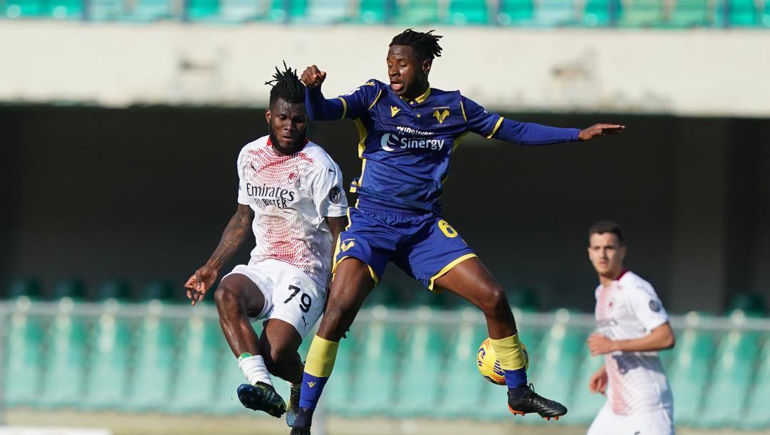 Franck kessie contro Tameze. LaPresse