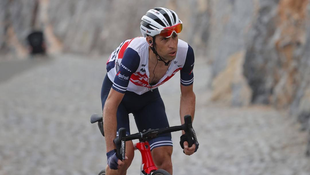 Vincenzo Nibali, 36 anni, all'UAE Tour 2021. Bettini