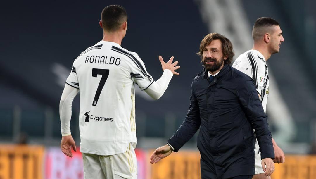 Cristiano Ronaldo, 36 anni, e Andrea Pirlo, 41. Getty