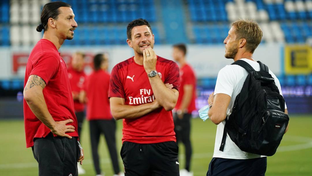 Nella foto: Zlatan Ibrahimovic Daniele Bonera Ambrosini. LaPresse