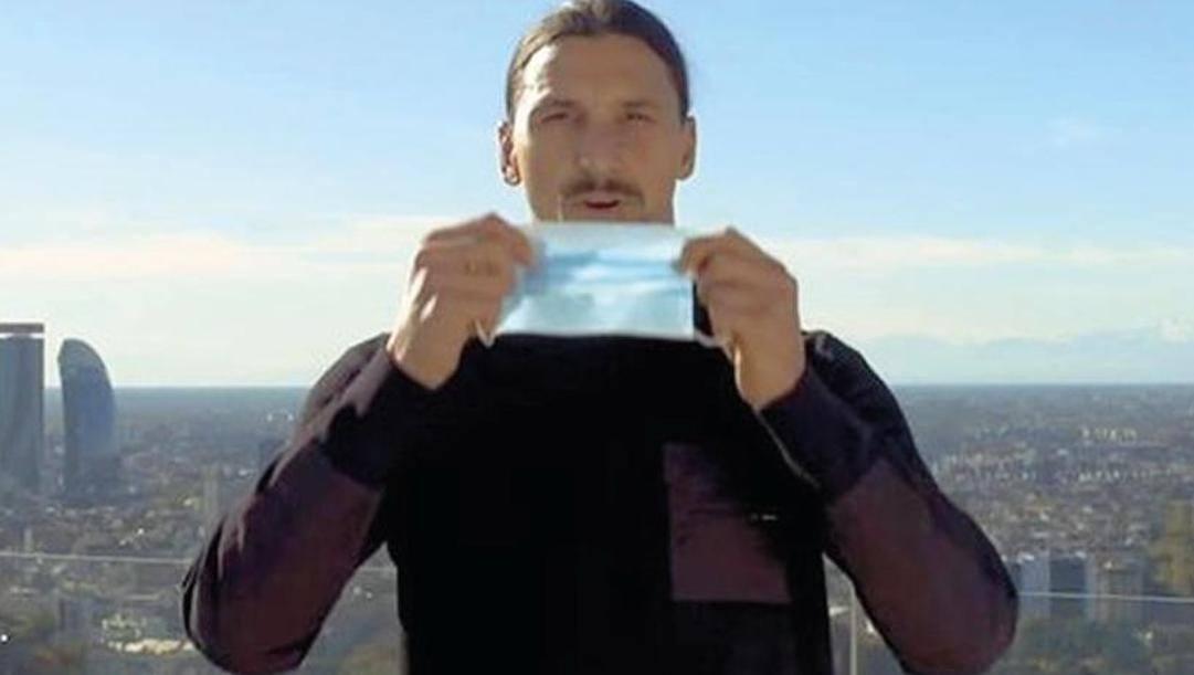 Zlatan Ibrahimovic testimonial della Regione Lombardia nella campagna contro il Covid