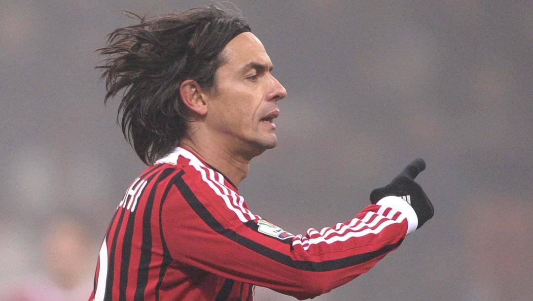 Filippo Inzaghi ai tempi del Milan. Lapresse