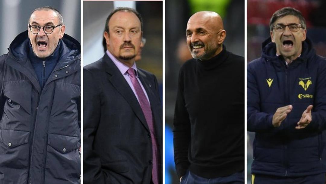 Sarri, Benitez, Spalletti e Juric.