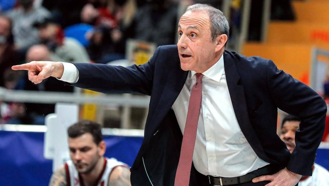 Ettore Messina, 61 anni, alla seconda stagione da presidente-coach di Milano. Epa