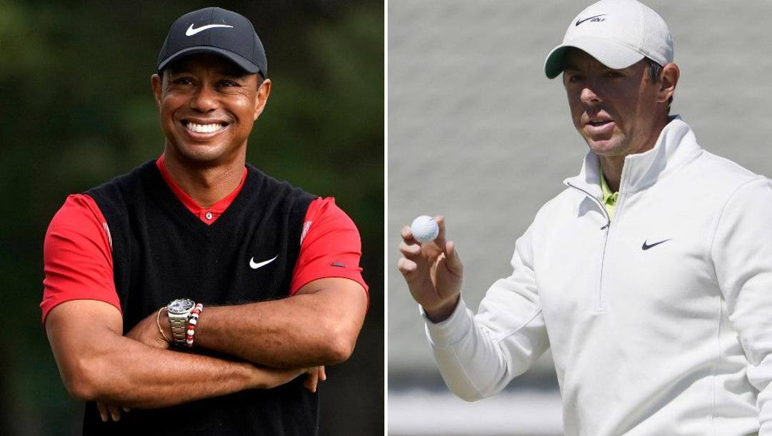 Tiger Woods e Rory McIlroy.
