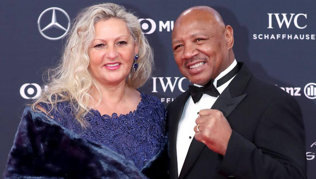 Marvin Hagler insieme alla moglie Kay Guarrera. Getty Images