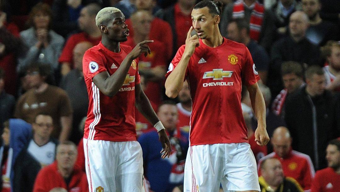 Pogba e Ibrahimovic ai tempi del Manchester Utd. Epa