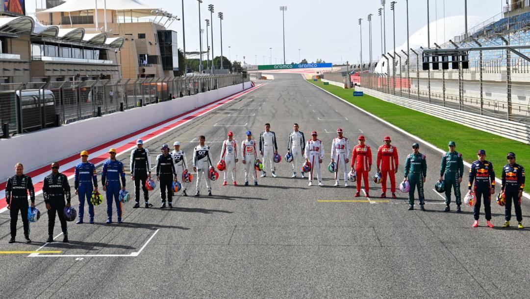 I piloti 2021 della Formula 1 schierati