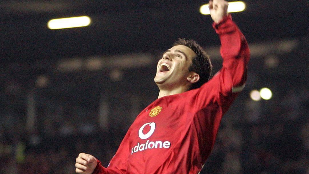 Giuseppe Rossi con la maglia del Manchester Utd. Ap