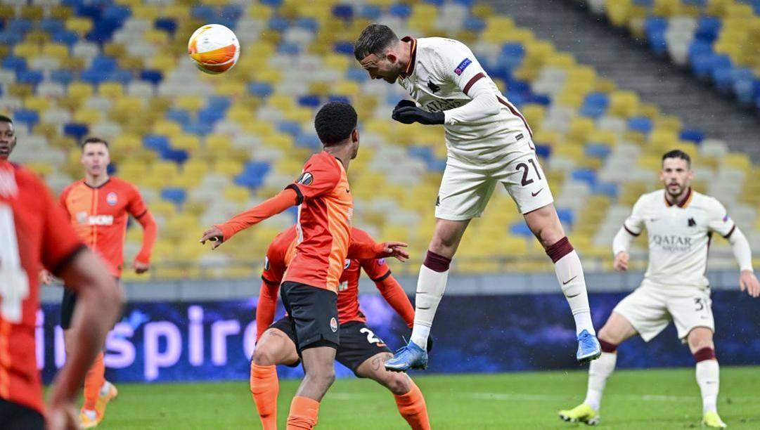 Il primo gol di Borja Mayoral allo Shakhtar. Lapresse