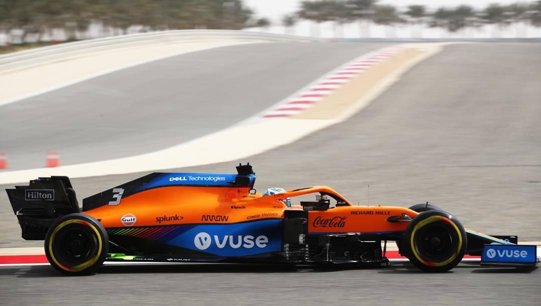 La McLaren di Daniel Ricciardo. Getty