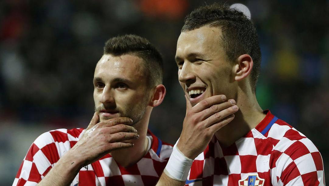 Brozovic e Perisic con la maglia della Croazia. Getty