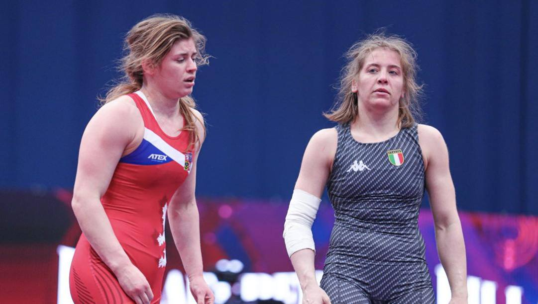 Dalma Caneva dopo la vittoria ai quarti sulla ceca Hanzlickova