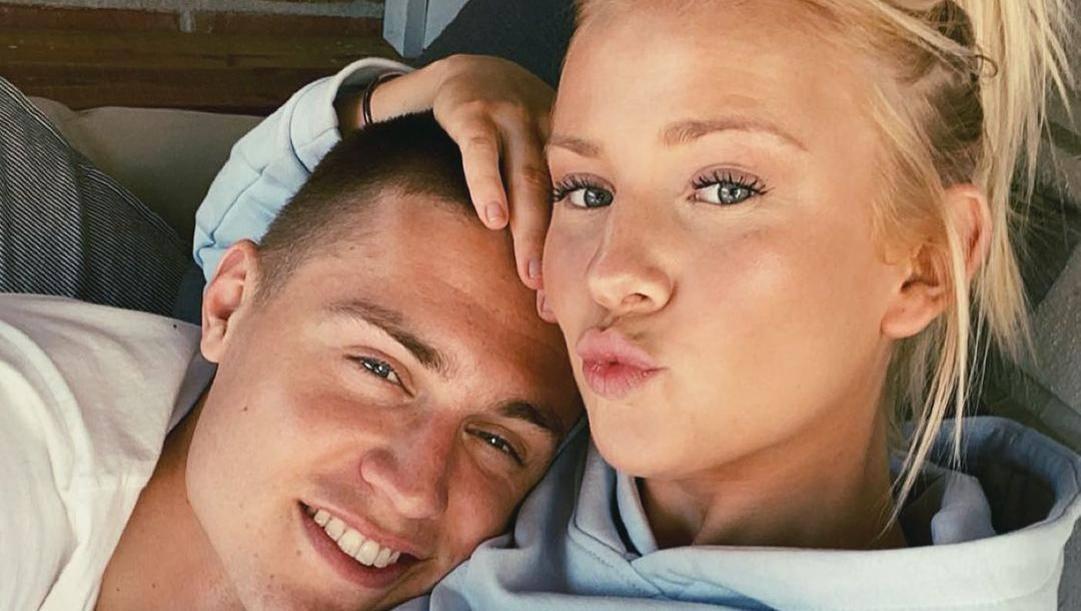 Mattias Svanberg con la moglie Alice. Instagram