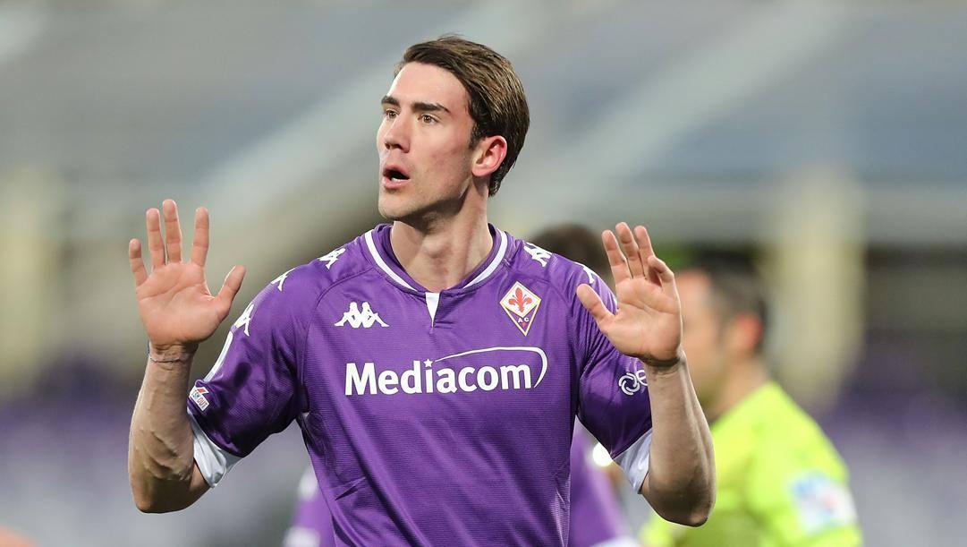 Dusan Vlahovic, 21 anni, ora alla Fiorentina. Getty