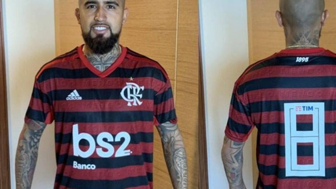 Arturo Vidal in maglia Flamengo