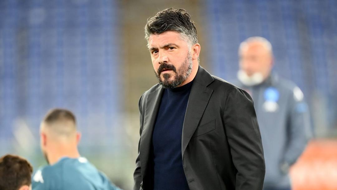 Gennaro Gattuso, tecnico del Napoli. Lapresse