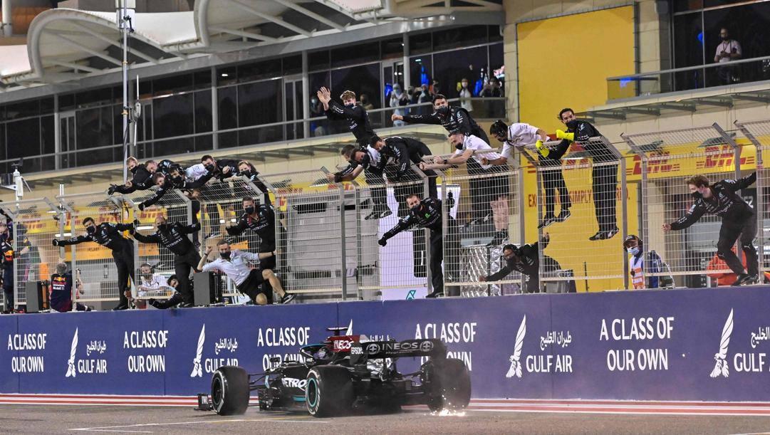 Lewis Hamilton vince la gara n. 96 della carriera in F1. Getty
